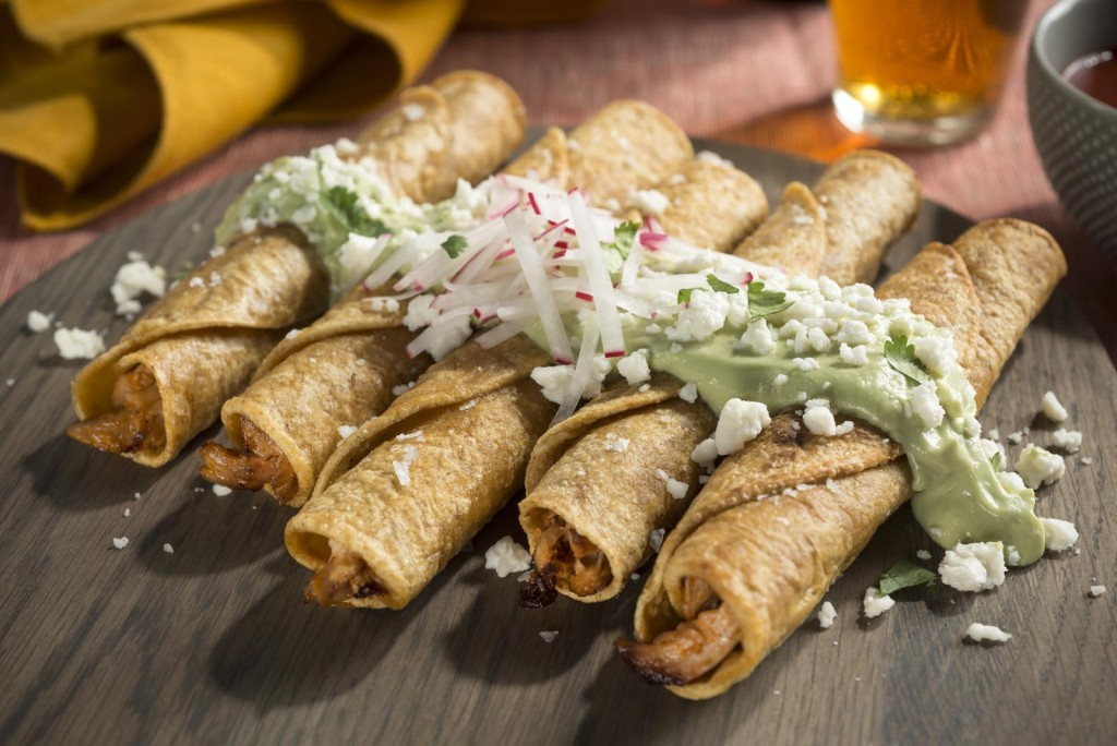 Chicken Taquitos w/ Avocado Crema