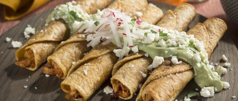 Chicken Taquitos w/ Avocado Crema