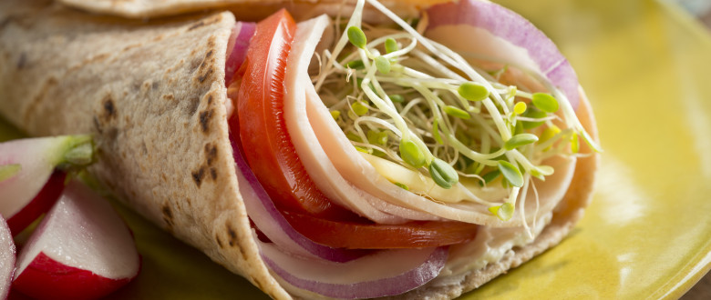 What to do with Tortillas - Turkey Wrap