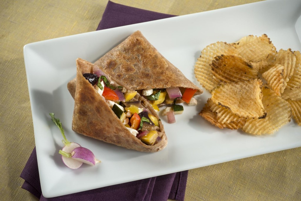 Mediterranean Vegetable Wrap