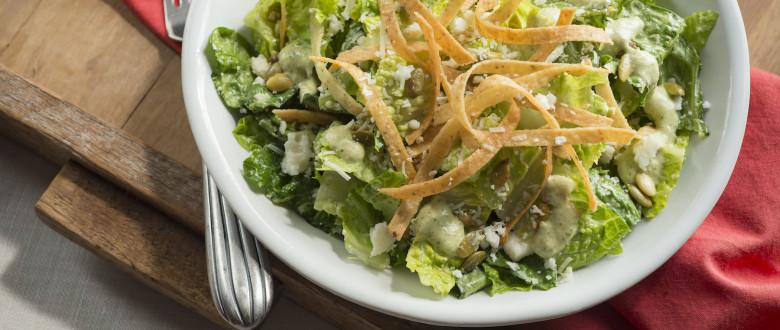 Mexican Caesar Salad with Tortillas Strips