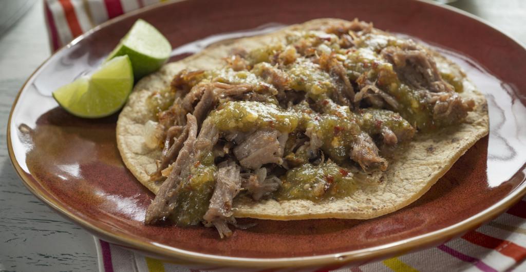 Pork Tacos with Tomatillo