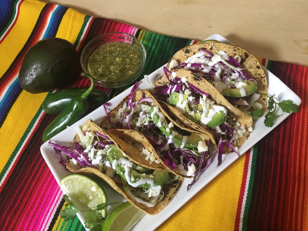 Carnitas Tacos Tomatillo Salsa