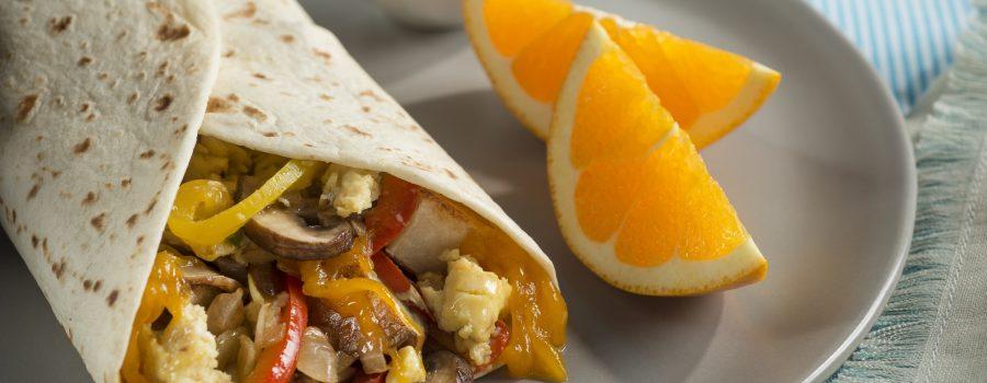 Vegetable Breakfast Burrito