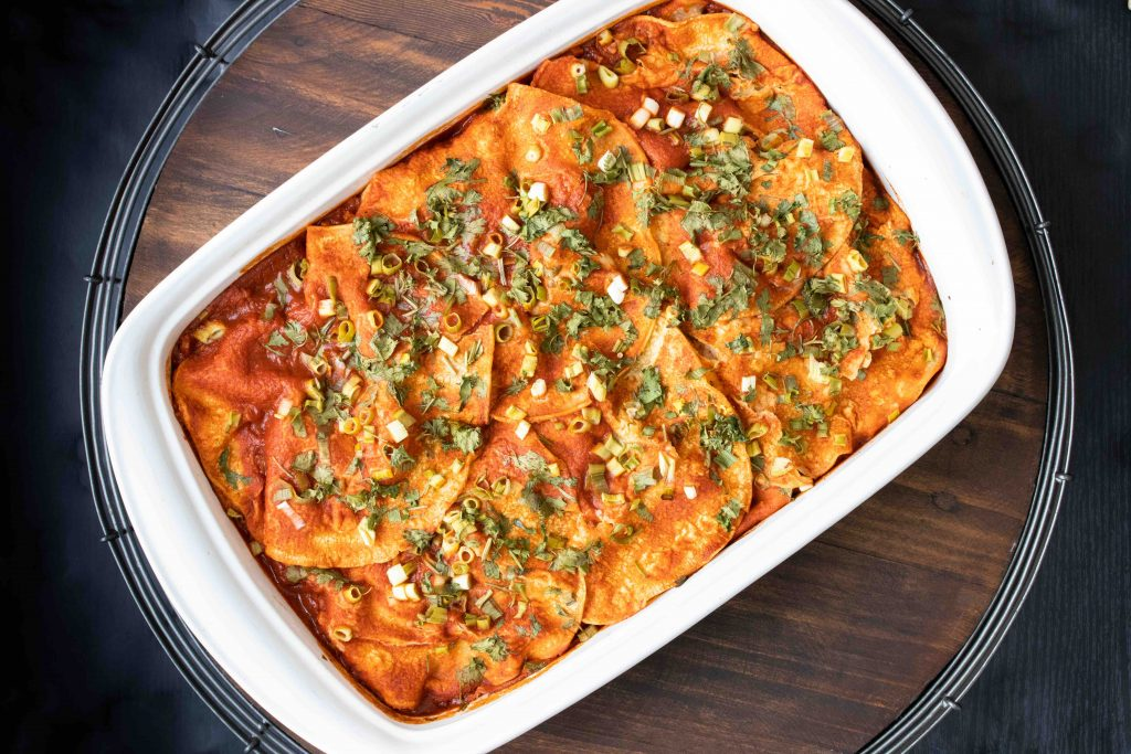 healthy vegan enchilada casserole