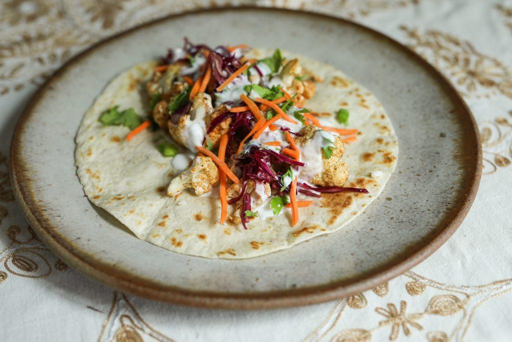 Chile Roasted Cauliflower Tacos