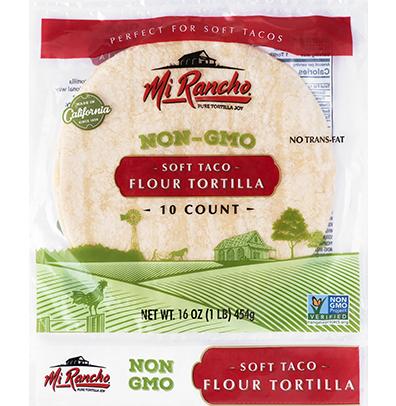 Non-GMO Soft Taco Flour Tortillas