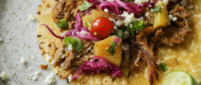 Sweet Pork Tacos with Grilled Pineapple Salsa