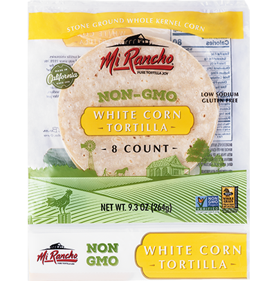 Non-GMO White Corn Tortillas